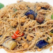 Rice Noodles with Braised Eggplant and Minced Pork in Spicy Garlic Sauce - Tsuen Wan
