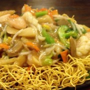 Fresh Squid with Stir-Fried Noodles in Supreme Soy Sauce - Tsuen Wan